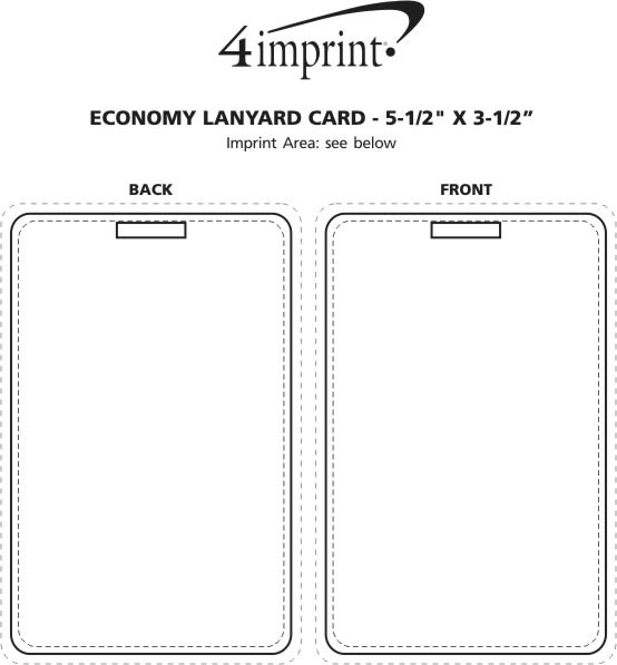 "Imprint Area of Laminated Card Stock Lanyard Card - 5-1/2"" x 3-1/2"""
