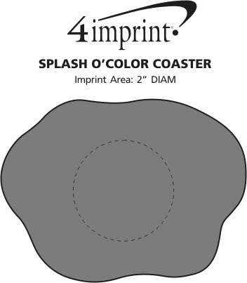 Imprint Area of Splash O' Color Coaster
