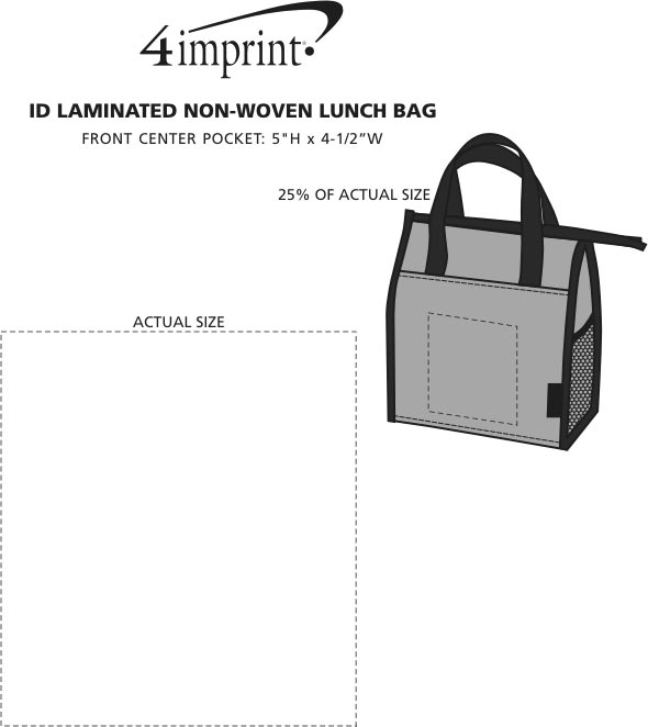 Imprint Area of ID Laminated Non-Woven Lunch Bag