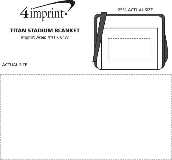 Imprint Area of Titan Stadium Blanket