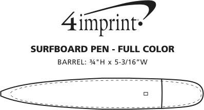 Imprint Area of Surfboard Pen - Full Color
