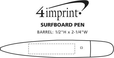Imprint Area of Surfboard Pen