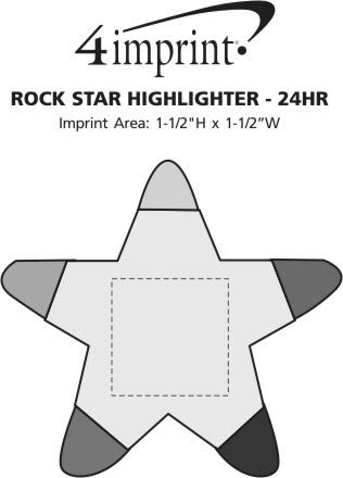 Imprint Area of Rock Star Highlighter - 24 hr