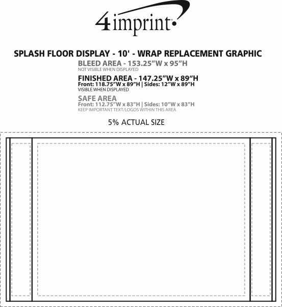 Imprint Area of Splash Floor Display - 10' - Wrap Replacement Graphic