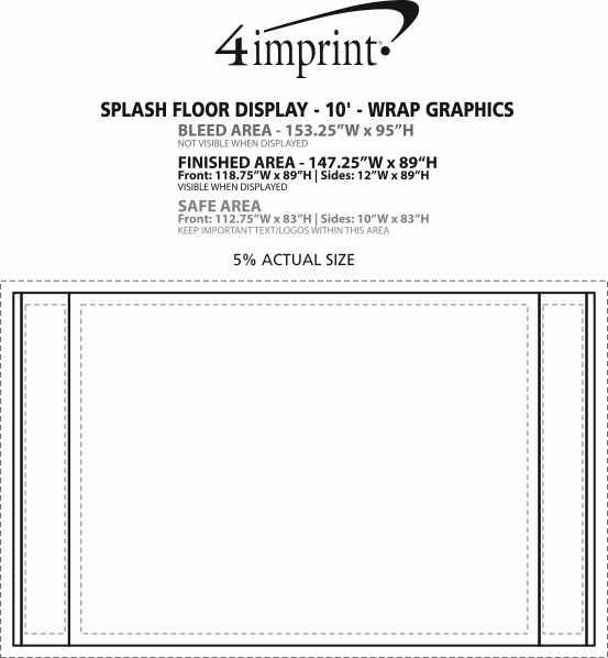 Imprint Area of Splash Floor Display - 10' - Wrap Graphics
