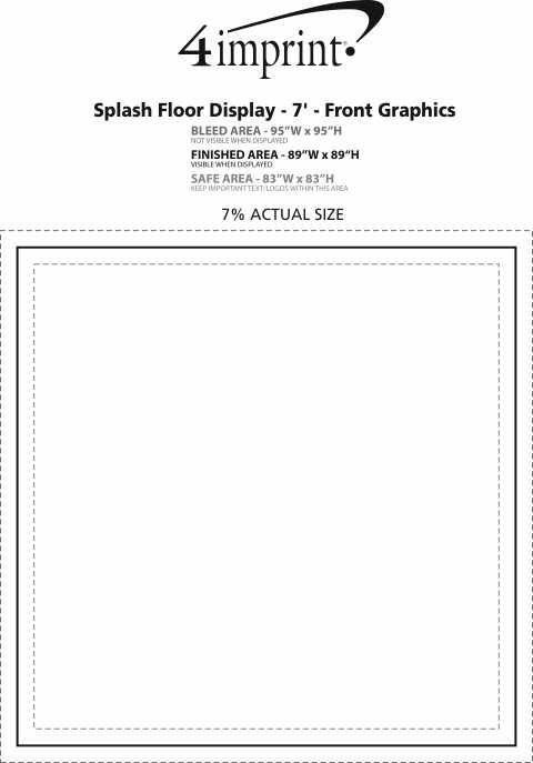 Imprint Area of Splash Floor Display - 7' - Front Graphics