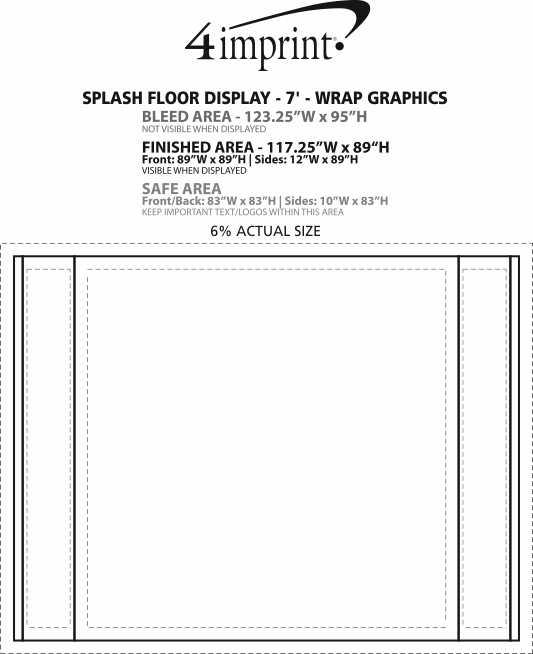 Imprint Area of Splash Floor Display - 7' - Wrap Graphics