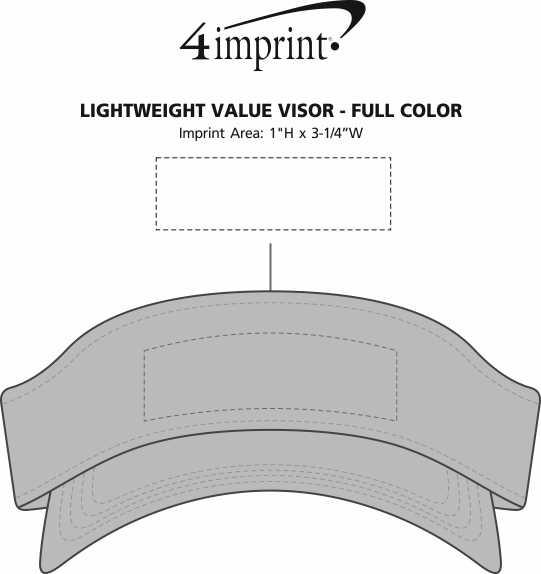 Imprint Area of Lightweight Economy Visor - Full Color