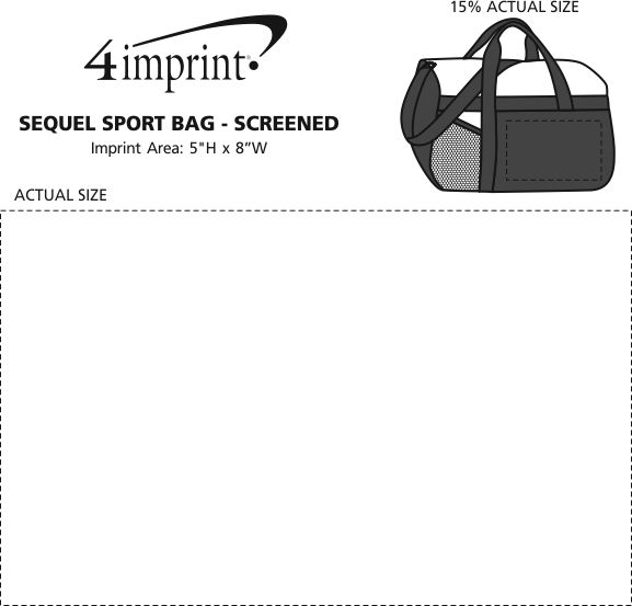 Imprint Area of Sequel Sport Bag - Screen
