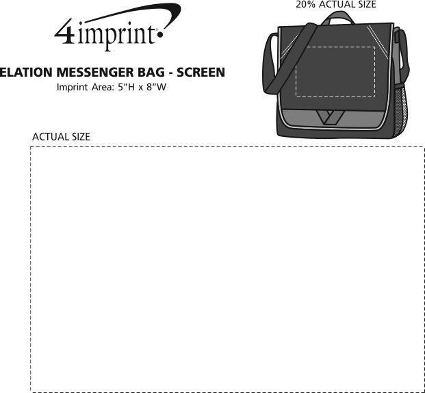 Imprint Area of Elation Messenger Bag - Screen