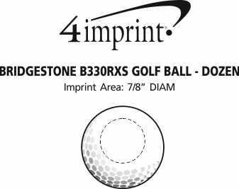 Imprint Area of Bridgestone Tour B RXS Golf Ball - Dozen