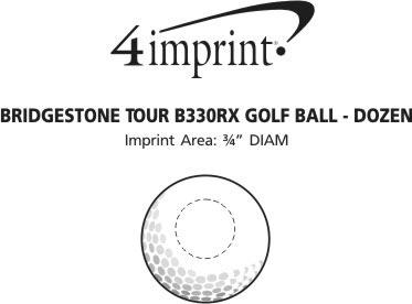 Imprint Area of Bridgestone Tour B X Golf Ball - Dozen