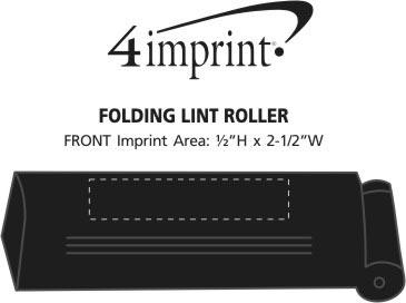 Imprint Area of Folding Lint Roller