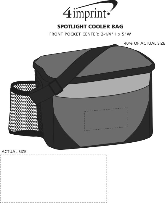 Imprint Area of Spotlight Cooler Bag