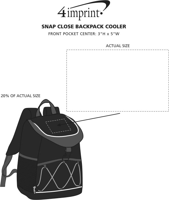 Imprint Area of Snap Close Backpack Cooler