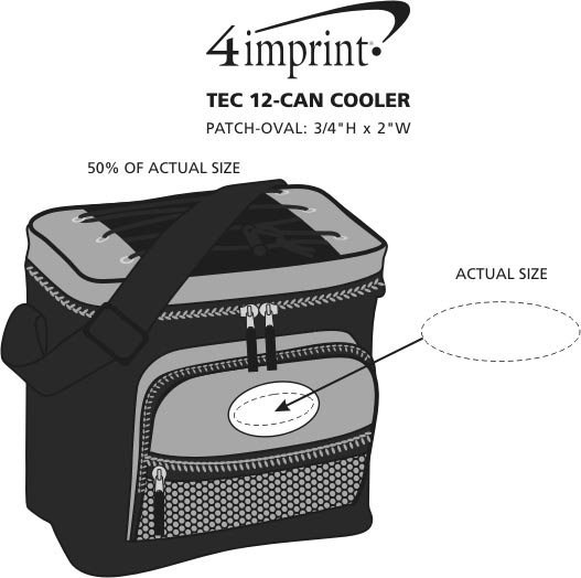 Imprint Area of TEC 12-Can Cooler