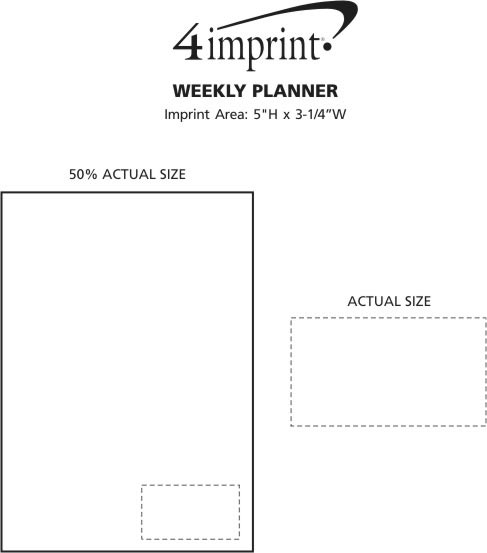 Imprint Area of Weekly Planner