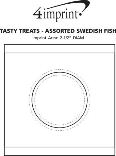 Imprint Area of Tasty Treats - Assorted Swedish Fish