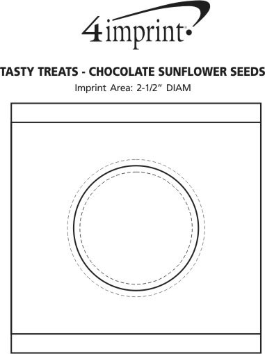 Imprint Area of Tasty Treats - Chocolate Sunflower Seeds
