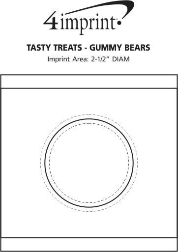 Imprint Area of Tasty Treats - Gummy Bears