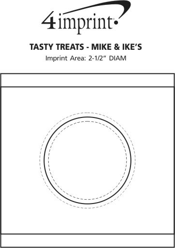 Imprint Area of Tasty Treats - Mike and Ike