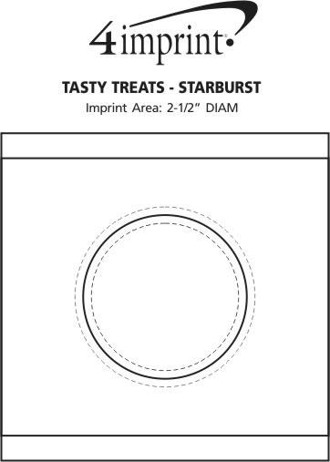 Imprint Area of Tasty Treats - Starburst
