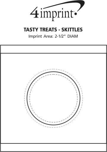 Imprint Area of Tasty Treats - Skittles