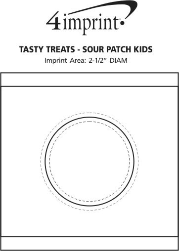 Imprint Area of Tasty Treats - Sour Patch Kids