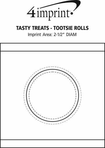 Imprint Area of Tasty Treats - Tootsie Rolls
