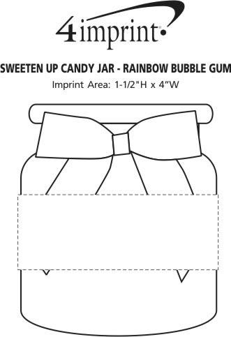 Imprint Area of Sweeten Up Candy Jar - Rainbow Bubble Gum