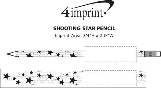 Imprint Area of Shooting Stars Pencil