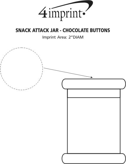 Imprint Area of Snack Attack Jar - Chocolate Buttons