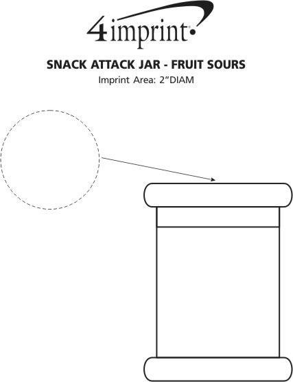 Imprint Area of Snack Attack Jar - Fruit Sours