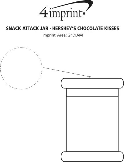 Imprint Area of Snack Attack Jar - Hershey's Chocolate Kisses