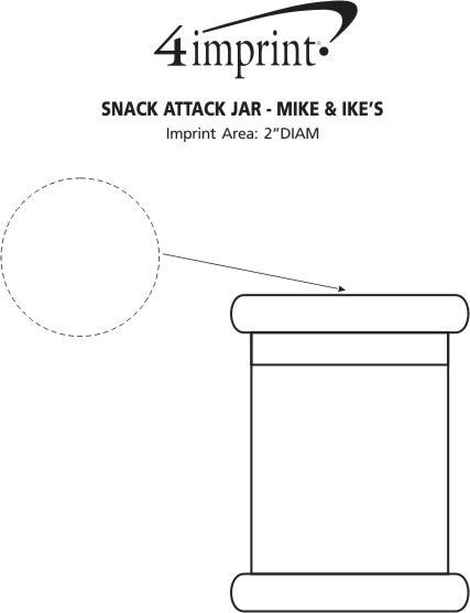 Imprint Area of Snack Attack Jar - Mike and Ike