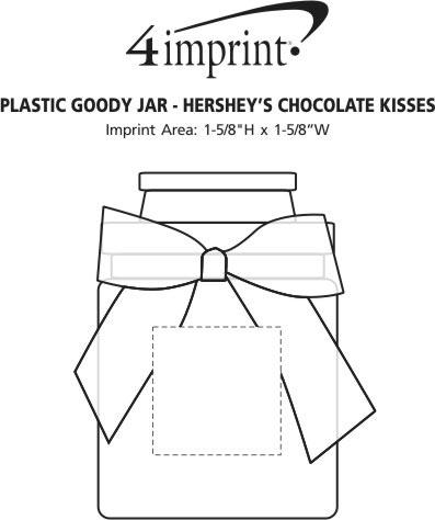 Imprint Area of Plastic Goody Jar - Hershey's Chocolate Kisses