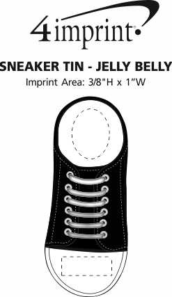Imprint Area of Sneaker Tin - Jelly Belly