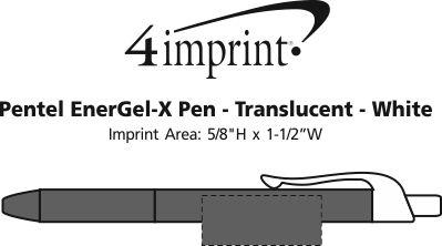Imprint Area of Pentel EnerGel-X Pen - Translucent - White