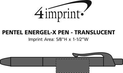 Imprint Area of Pentel EnerGel-X Pen - Translucent