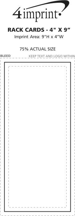 "Imprint Area of Rack Cards - 9"" x 4"""