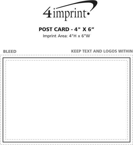 "Imprint Area of Post Card - 4"" x 6"""