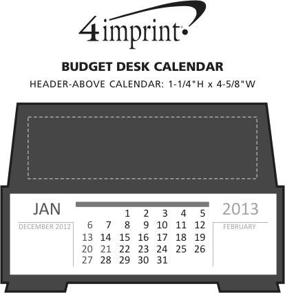 Imprint Area of Capital Desk Calendar