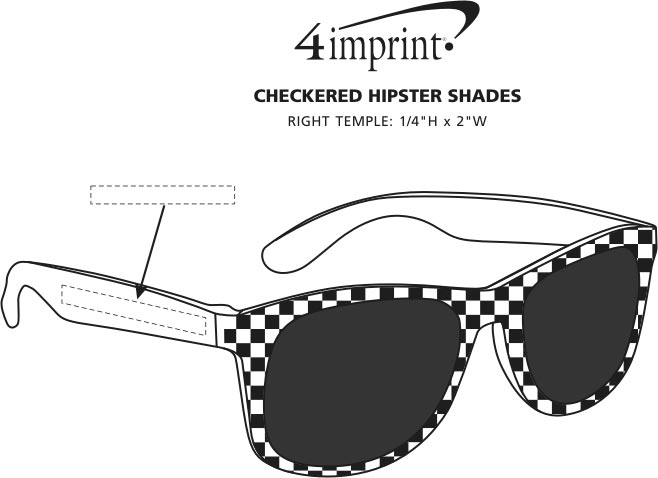 Imprint Area of Checkered Hipster Shades