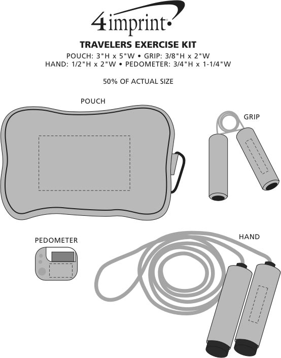 Imprint Area of Travelers Exercise Kit