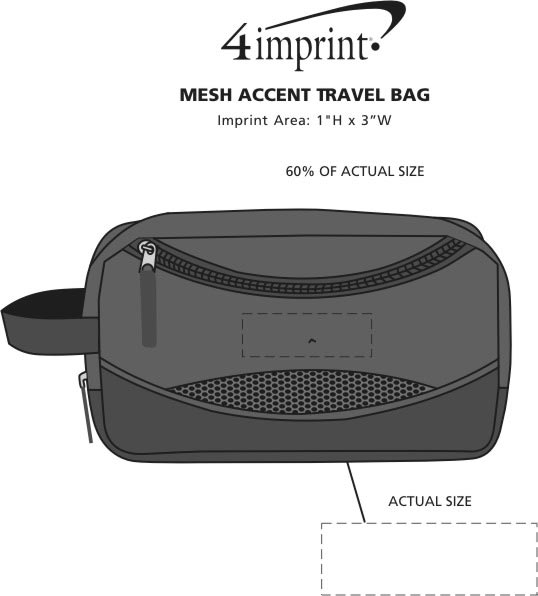 Imprint Area of Mesh Accent Travel Bag