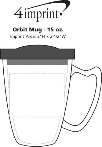 Imprint Area of Orbit Mug - 15 oz.