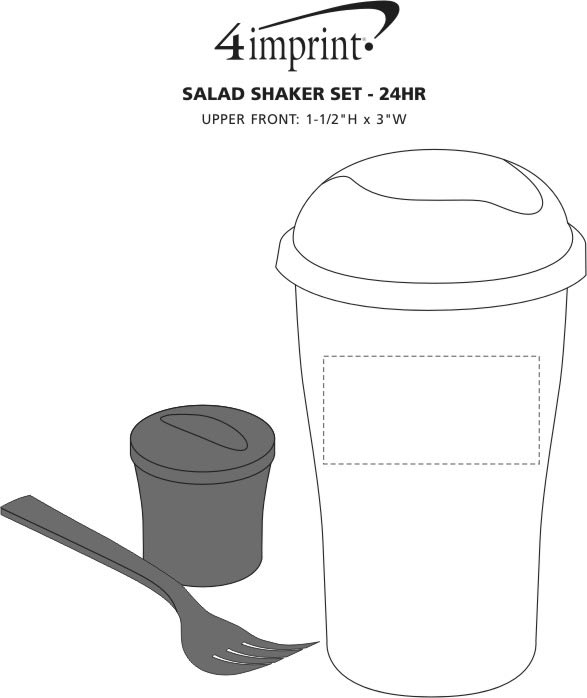 Imprint Area of Salad Shaker Set - 24 hr