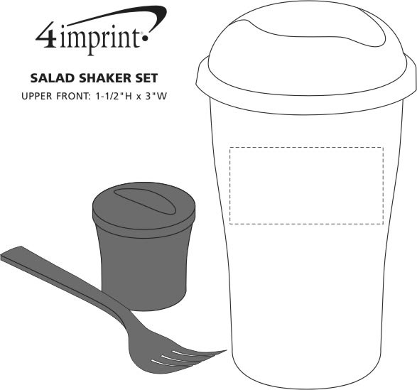 Imprint Area of Salad Shaker Set