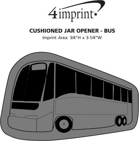 Imprint Area of Cushioned Jar Opener - Bus