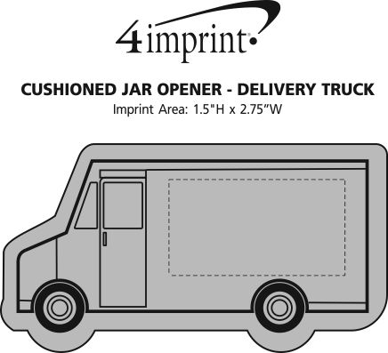 Imprint Area of Cushioned Jar Opener - Delivery Truck